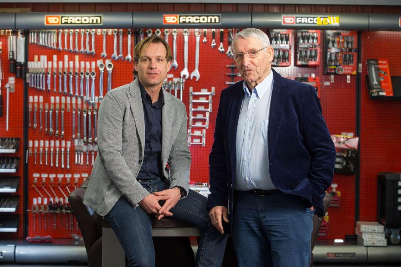 directeur Johan Schipper (links) en oprichter Antoon Schipper (rechts)
